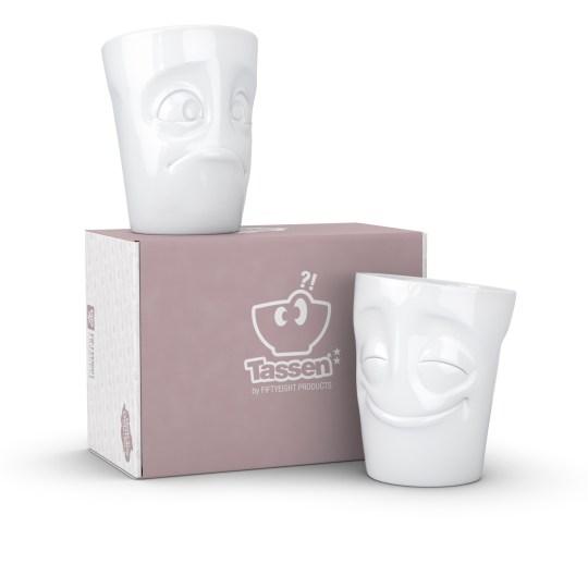 Set de 2 mugs Tassen de 350ml - Joyeux et surpris