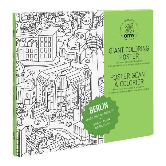 Poster Géant à colorier BERLIN by OMY