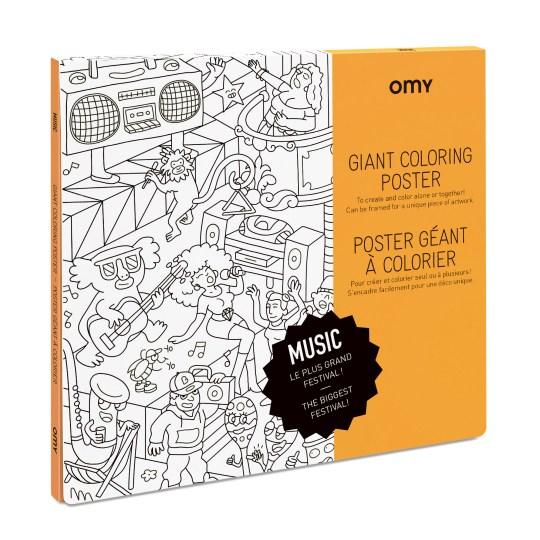 Poster Géant à colorier MUSIC by OMY