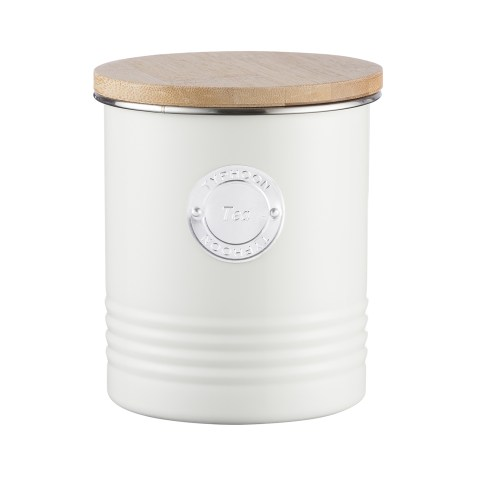 Boîte de conservation pour thé look vintage – Crème