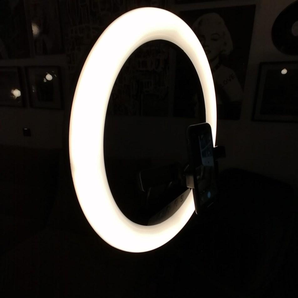 Trépied avec anneau lumineux 3 supports