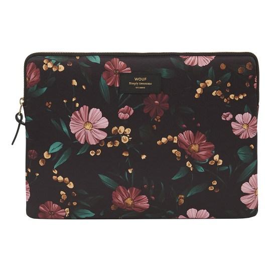 Housse WOUF pour ordinateur portable 13″ – Black Flowers
