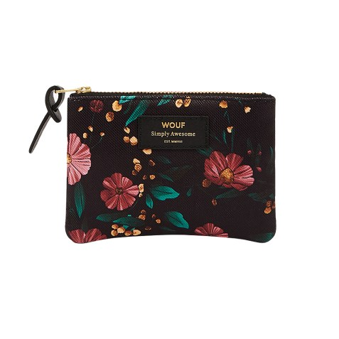 Petite pochette Black Flowers by Wouf