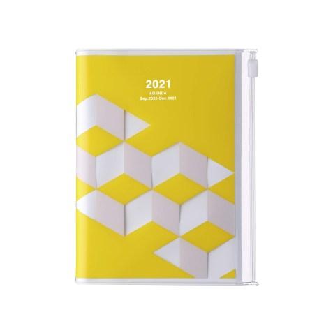 Agenda 2020-2021 Mark's Japan Geometric pattern A6 Jaune – sep20 à déc21