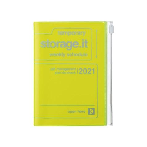 Agenda 2020-2021 Mark's Japan Storage.it A6 Jaune Néon – sep20 à déc21