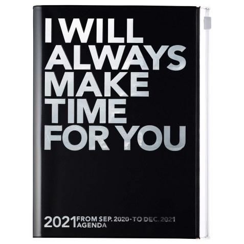 Agenda 2020-2021 Mark's Japan Clear storage A5 Argent et Noir – sep20 à déc21
