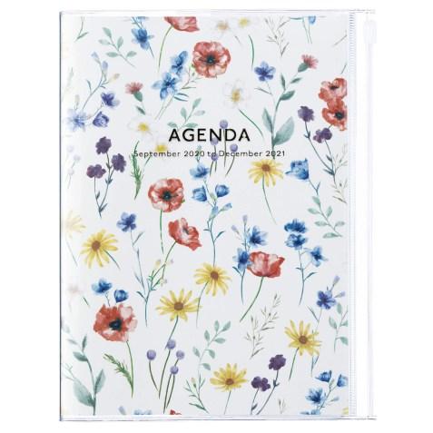 Agenda 2020-2021 Mark's Japan Flower pattern A5 Crème – sep20 à déc21