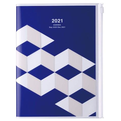 Agenda 2020-2021 Mark's Japan Geometric pattern A5 Bleu – sep20 à déc21