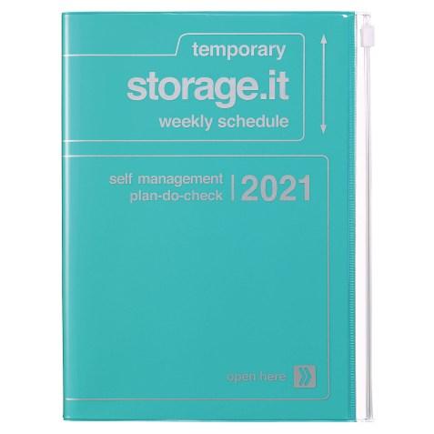 Agenda 2020-2021 Mark's Japan Storage.it A5 Turquoise – sep20 à déc21