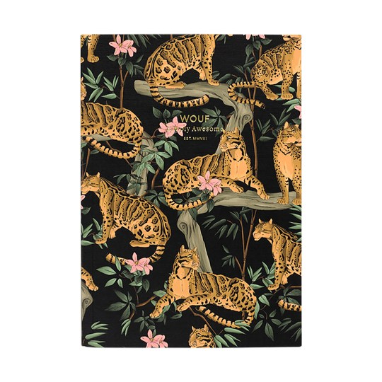 Cahier original ligné – Format A5 – Black Lazy jungle by WOUF