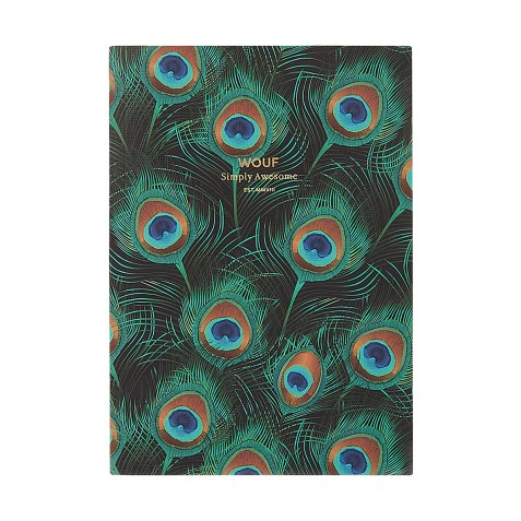 Cahier original ligné – Format A5 – Peacock by WOUF