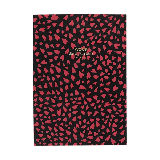 Cahier original ligné – Format A5 – Hearts by WOUF