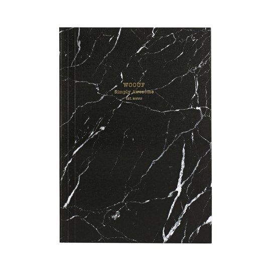 Cahier original ligné – Format A5 – Black Marble by WOUF