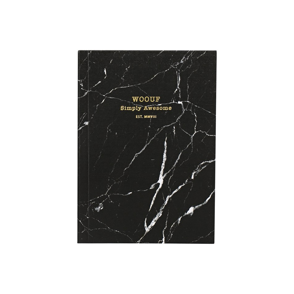 Cahier original ligné – Format A6 – Black Marble by WOUF