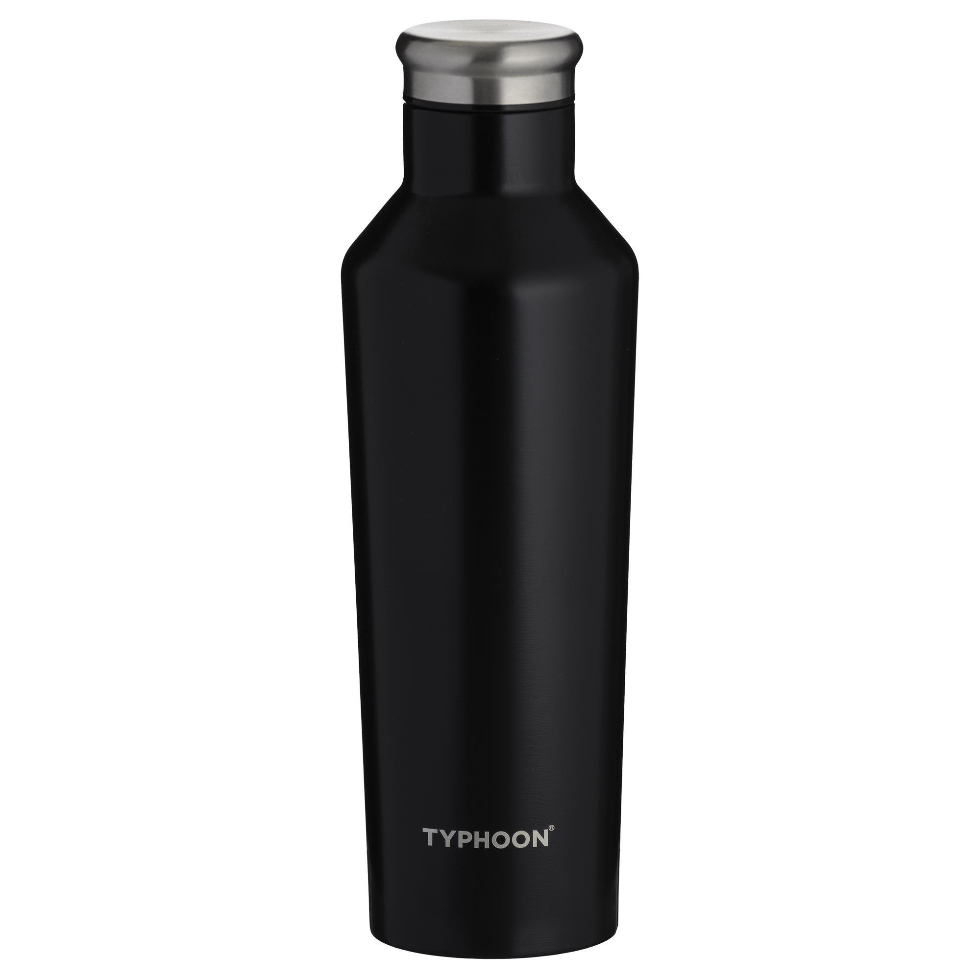 bouteille isotherme a double paroi en inox 500ml noir