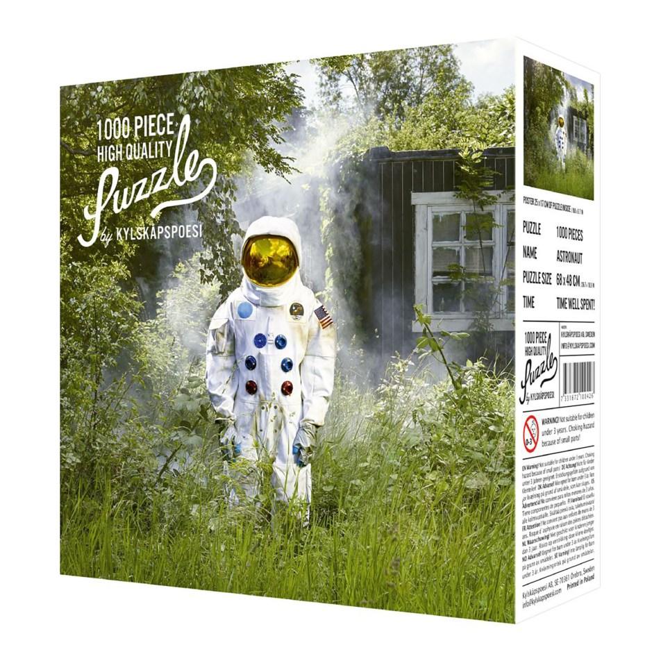 Puzzle 1000 pièces – L'astronaute au jardin