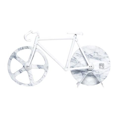 Roulette à pizza vélo Marbre Blanc par DOIY