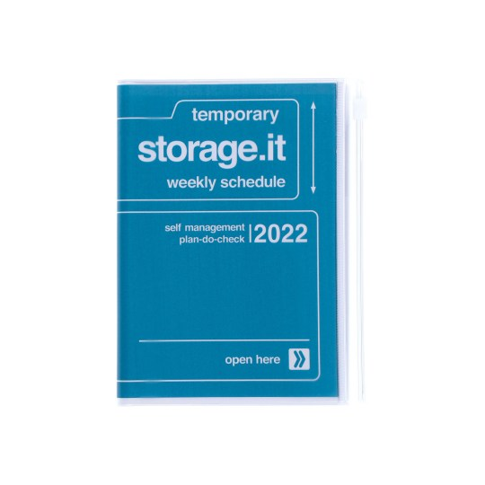 Agenda 2021-2022 Mark's Japan Storage it A6 Navy – sep21 à déc22
