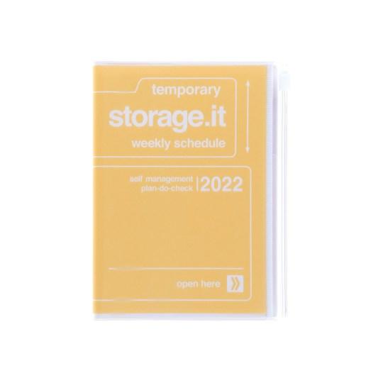 Agenda 2021-2022 Mark's Japan Storage it A6 Jaune – sep21 à déc22