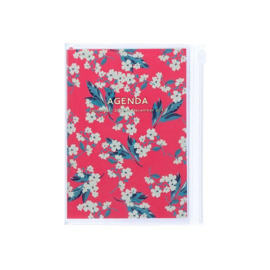Agenda 2021-2022 Mark's Japan Flower Pattern A6 Rose – sep21 à déc22