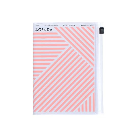 Agenda 2021-2022 Mark's Japan Geometric Pattern A6 Rose – sep21 à déc22