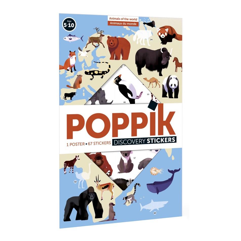 Poster à sticker Animaux du Monde par POPPIK