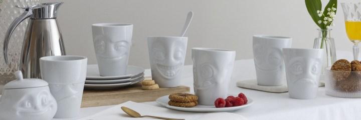 la collection set mugs café petit déjeuner boudeur maliceux tassen