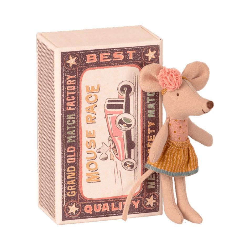 Mice in a Matchbox by Maileg Petite souris Petite Sœur dans sa Boite d'allumette