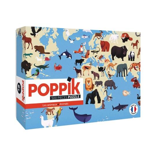 Puzzle 500 pièces Animaux du Monde par POPPIK