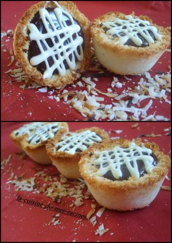 Tartelettes de noix de coco au chocolat