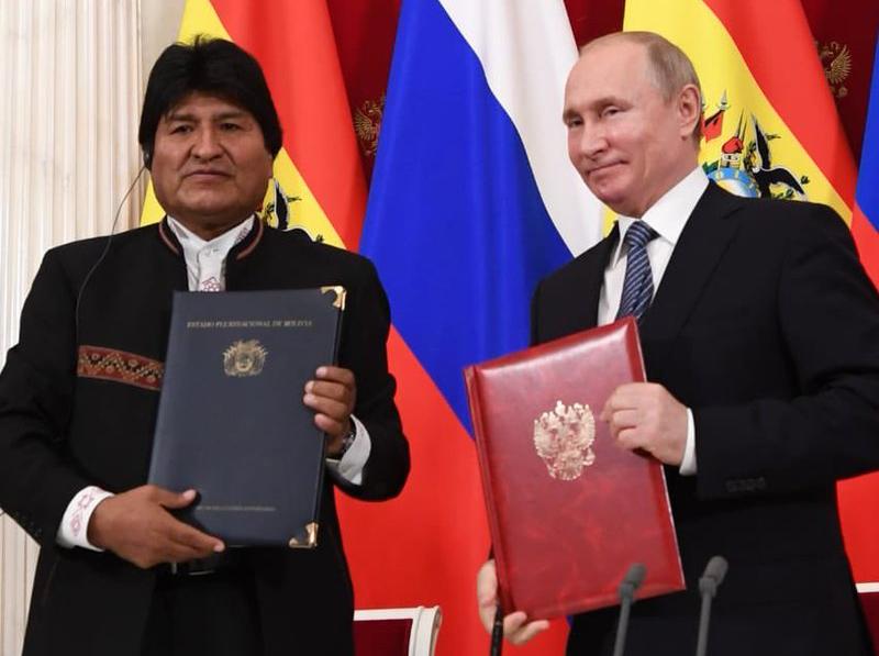 Rusia y Bolivia firman acuerdos en materia económica y política