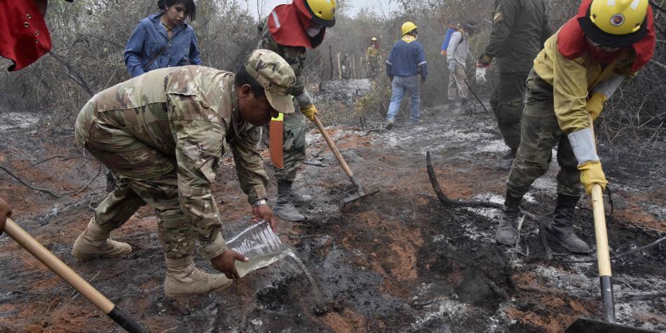 bolivia incendios ayuda