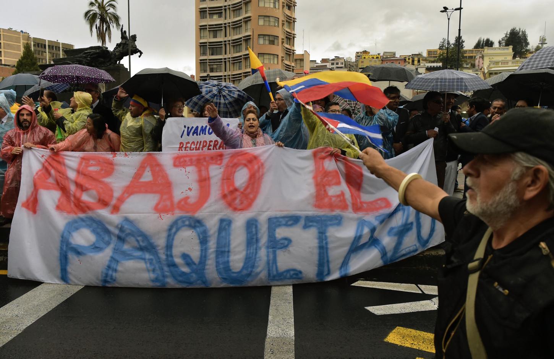 ECUADOR-ECONOMY-IMF-PROTEST