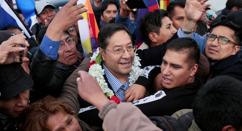 Luis Arce Catacora en Bolivia