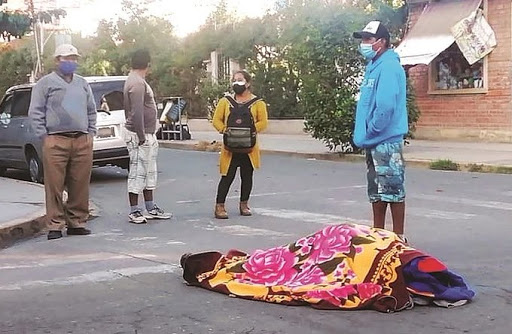 Muertos en la calle Bolivia