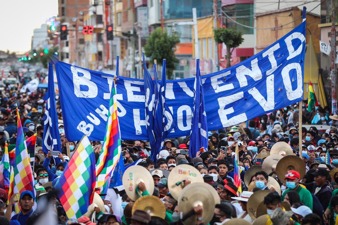 Regreso de Evo a Bolivia
