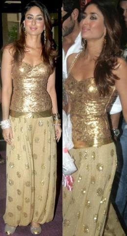 Actrice Karena Kapoor en pantalon harem, type oriental.