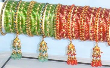 bracelets fantaisie avec jhumki