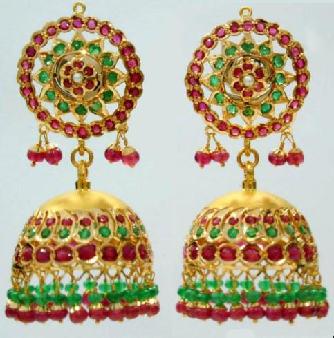 Jhumki traditionnels