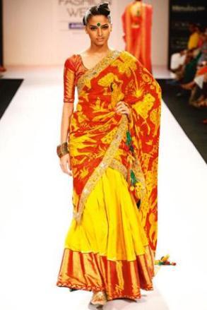 kalamkari wedding saree