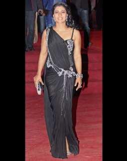 Kajol-saree-gown