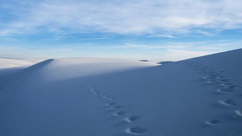 désert sable blanc nouveau mexique