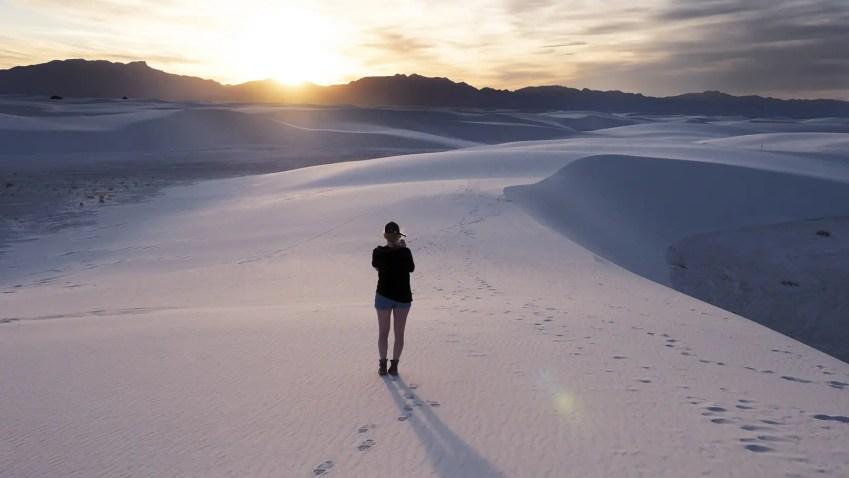 desert sable blanc coucher soleil