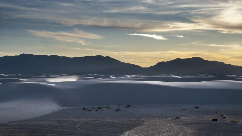 nlouveau mexique desert sable blanc