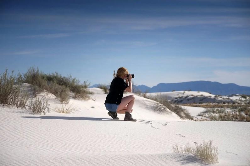 dunes de sable blanc