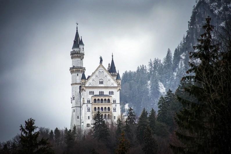 baviere en hiver château de Neuschwanstein