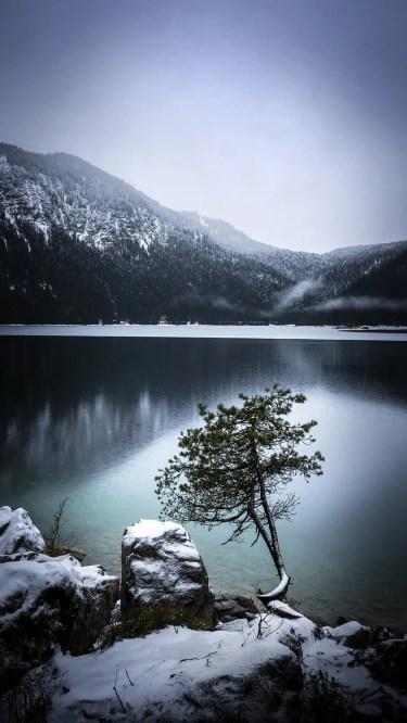 Eibsee en hiver