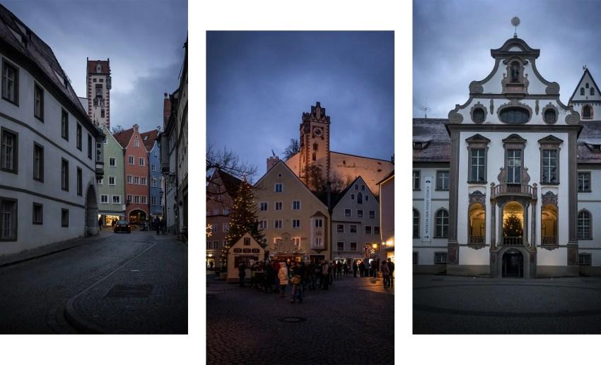 Füssen ville de nuit