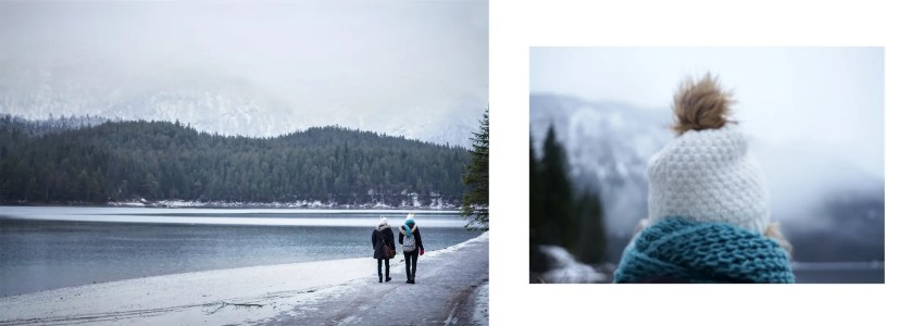 Lac Eibsee blanc lac