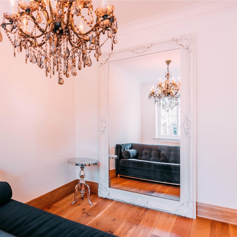 Francoise Extra Large Ornate White Mirror Furniture La